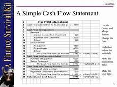Simple Cash Flow Statement Cashflow Statement