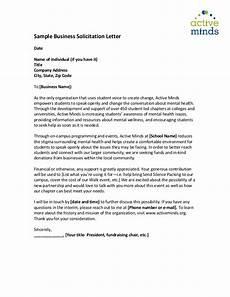 Sample Of Letter Of Solicitation For Donation Sample Solicitation Letters