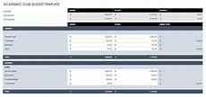 Club Budget Template Free Budget Templates In Excel Smartsheet