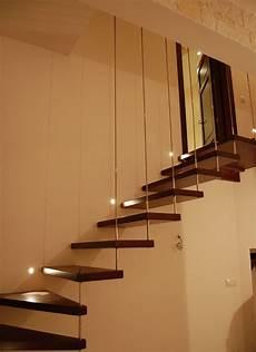 scale interne sospese scala a sbalzo in legno ringhiera con tiranti in acciaio