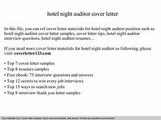Night Auditor Cover Letter Hotel Night Auditor Cover Letter