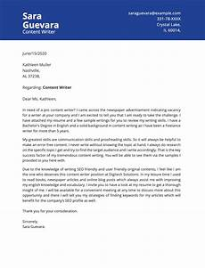 Cover Letter Writing Services Content Writer Cover Letter Example Priwoo