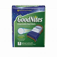 goodnites 174 disposable bed mats bedwetting mattress pads