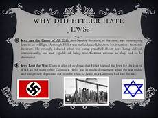 Why Did The Germans Hate The Jews Adolf Hitler