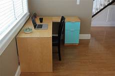 white l shape modern plywood desk diy projects