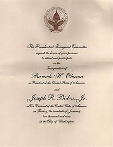 Inauguration Invitation Card Sample Invitations To The First Inauguration Of Barack Obama