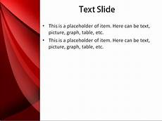 Red Powerpoint Download Free Red Waves Powerpoint Template For