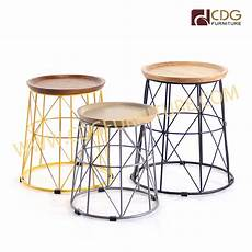 2019 new design modern metal frame with wood top small