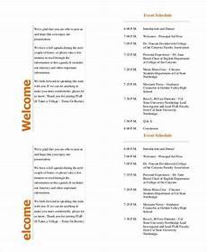 Event Program Booklet Template 39 Sample Event Program Templates Psd Ai Free