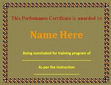 Product Performance Certificate Format Sample Performance Certificate Template 5 Free