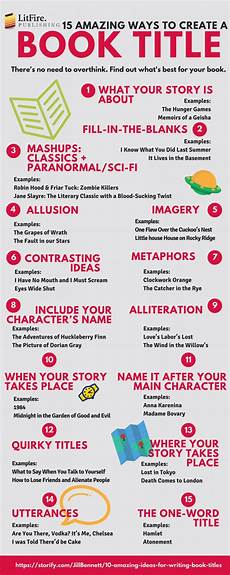 Title Examples 15 Ways To Coin A Successful Book Title Infographic