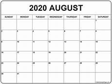 Calendar August August 2020 Calendar Free Printable Monthly Calendars