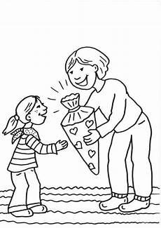Schule Und Familie Ausmalbilder Buchstaben Ausmalbild Einschulung Erster Schultag Kostenlos Ausdrucken