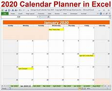 Planner Template 2020 2020 Calendar Year Planner Excel Template 2020 Monthly Etsy