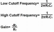 Band Pass Filter Equation Bandpass Filter Calculator