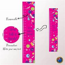 Pink Height Chart Details About Large Girls Pink Personalised Height