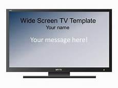 Tv Template Widescreen Televison Set Template