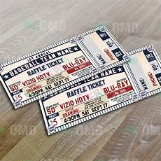 Event Raffle Tickets Classic Baseball Raffle Ticket Template Sports Invites