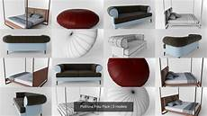 Sofa Battery Pack 3d Image by Poltrona Frau Pack 3d Model Model Sofa Furniture