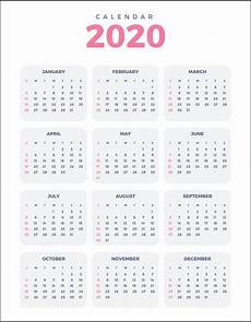 Yearly Calendar 2020 Printable 5 Best Images Of 2020 Yearly Calendar Free Printable
