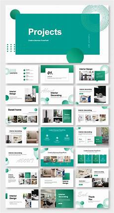 Business Presentation Powerpoint Templates Blue Business Project Report Presentation Template