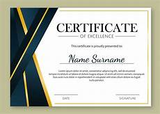 Design A Certificate Online Free Gold Details Certificate Of Excellence Template Download