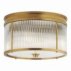 Ralph Light Fixtures Allen Flush Mount In Natural Brass Lighting Products