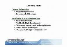 Asic And Fpga Design Notes Fpga Asic Technologies Flow