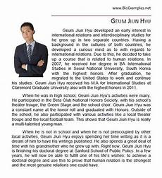 High School Student Bio Student Bio Example With Images Personal Biography