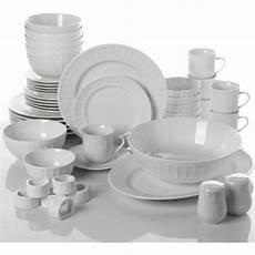 Designer Dishes Dinnerware Set 46 Piece Plates Dishes Bowls Kitchen China