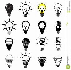 Led Light Bulb Symbol Bulb Symbols Stock Vector Illustration Of Alternative