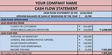 Simple Cash Flow Statement Download Cash Flow Statement Excel Template Exceldatapro