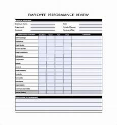Employee Review Form Free 5 Employee Review Forms In Pdf