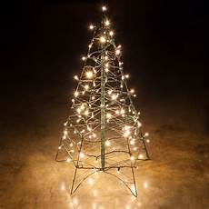 Wire Christmas Tree With Led Lights Lighted Warm White Led Outdoor Christmas Tree