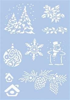 Vorlagen Fensterbilder Weihnachten Schneespray Schablone Quot Weihnachten Quot 9 Motive Kaufen