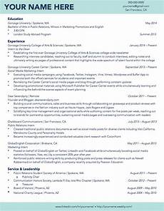 Cv Template For University Students Gonzaga University Sample Student R 233 Sum 233 R 233 Sum 233 Samples
