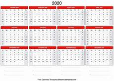 2020 calendar templates with holidays blank printable 2020 yearly calendar on we heart it