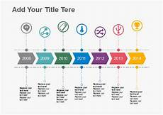 Horizontal Timeline Template Free Timeline Templates Easy To Edit