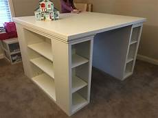 white a more traditional modern craft table diy