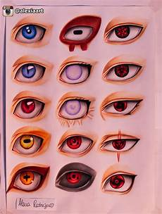 Naruto Eye Chart Naruto Eyes By Alexiarodrigues On Deviantart