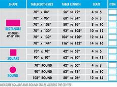 Table Linen Length Chart Tablecloth Size Guide Celebrationtablecloths 174