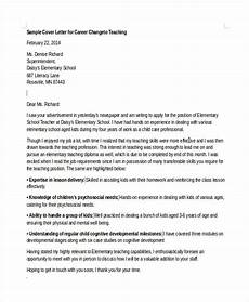 Cover Letters Career Change 6 Career Change Cover Letter Free Sample Example