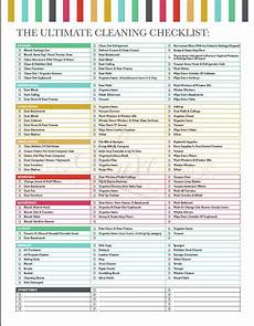 Professional House Cleaning Checklist The Ultimate House Cleaning Checklist Printable Pdf