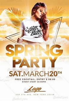 Flyer Partys Spring Party Flyer Templates Downoad Psd Creative Flyers