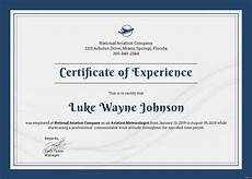 Company Certification Sample Free Company Experience Certificate Template In Adobe