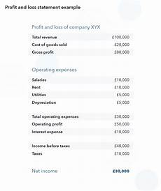 Examples Of Profit And Loss What Is A Profit And Loss Statement Profit And Loss