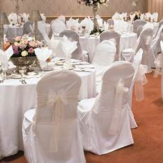 new wedding polyester chair covers banquet style round top