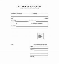 Rent Receipt Format Word Rent Receipt Template 9 Free Word Excel Pdf Format
