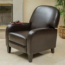 leather accent chairs for living room living room brown leather nailhead accent recliner club