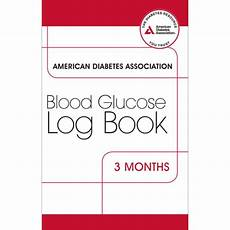 Blood Glucose Log Book Printable Ada Blood Glucose Log Book 4 Pkg